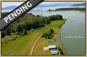 Delta Shores Airpark, waterfront airstrip on the Clark Fork River in Northern Idaho