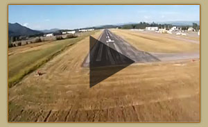 Landing at the Sandpoint Airport
