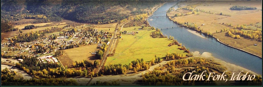 Clark Fork Idaho Real Estate Listings - An aerial view of Clark Fork, Idaho