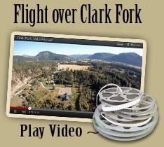 Superior Clark Aerial Viedo Flying Over Clark Fork, Idaho